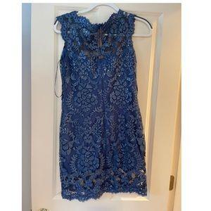 NWOT Tadashi Shoji Sequin Illusion Lace Dress